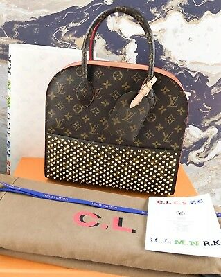 Ltd Edition Louis Vuitton Christian Louboutin Iconoclasts Monogram Spike Tote