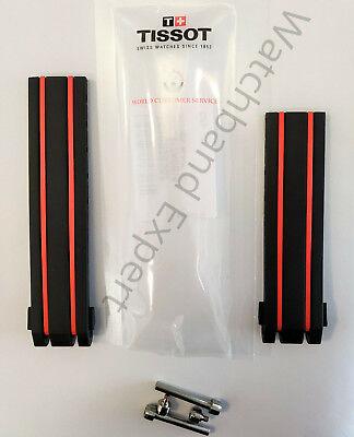 Original Tissot T-Race Men's T092417A, T092427A Black / Red Rubber Band Strap