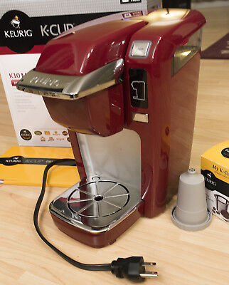 Keurig B31 / K10 Mini Plus K Cup Single Serve Coffee Maker Red Clean Works Great