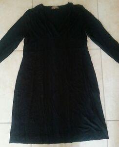 Lotto-427-vestito-vestitino-abito-donna-nero-TG-XL-elasticizzato-combipel