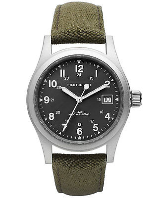 Hamilton H69419363 Men's Khaki Field Green Dial Canvas Strap Mechanical Watch