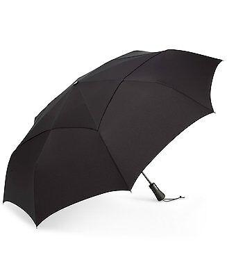 $99 SHEDRAIN BLACK ARC VENTED CANOPY RAIN AUTO-OPEN CLOSE AUTOMATIC UMBRELLA