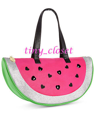 NEW LUV BETSEY JOHNSON COOLER WATERMELON TOTE BEACH PICNIC BAG lunch insulated - Watermelon Bag