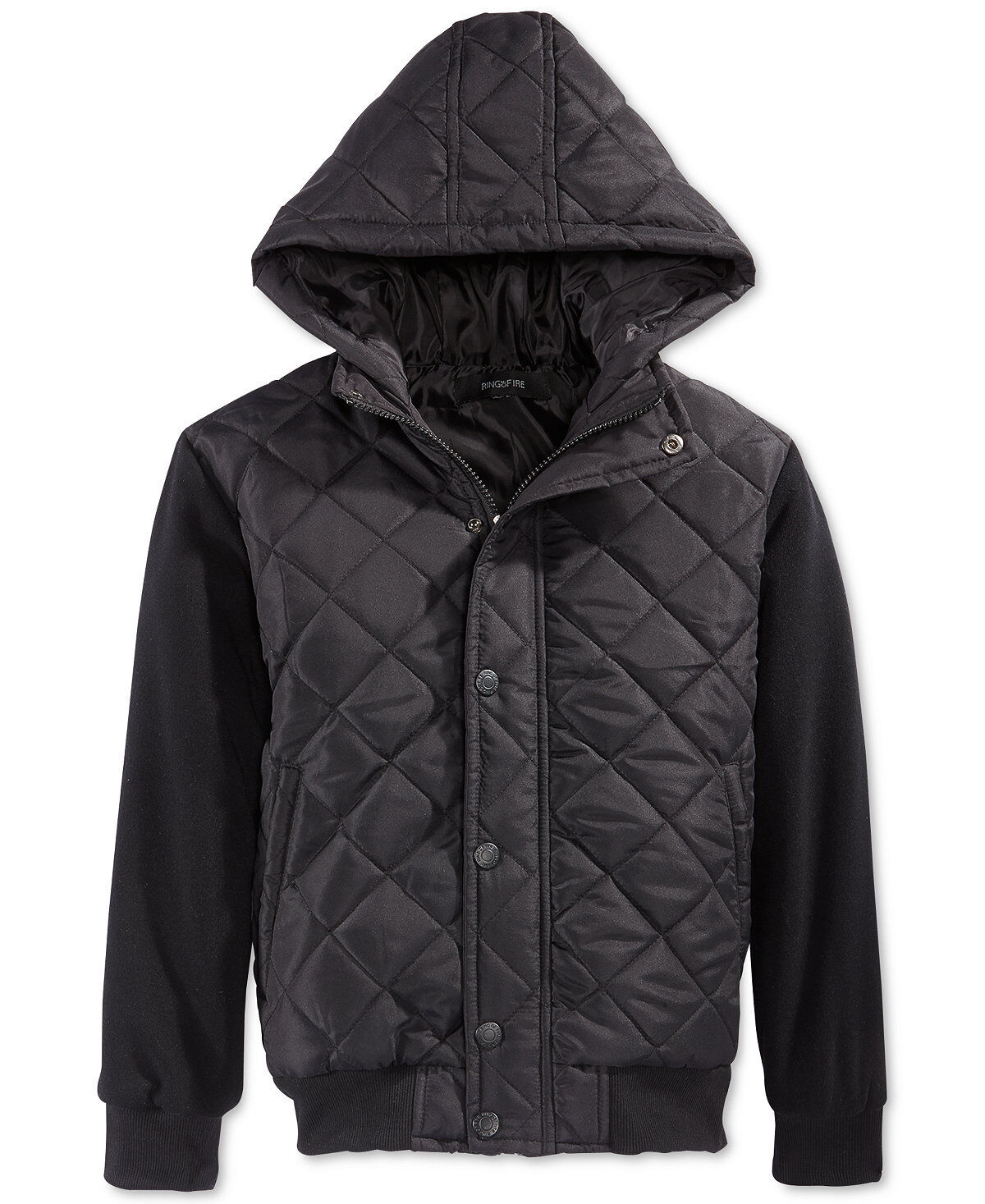 boys layered look quilted jacket
