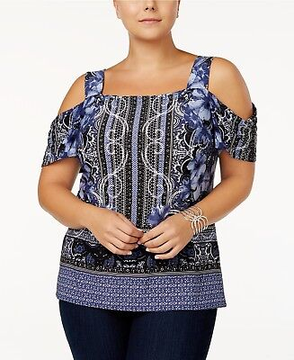 I.N.C. Plus Size Cold-Shoulder Top, Created for Macy