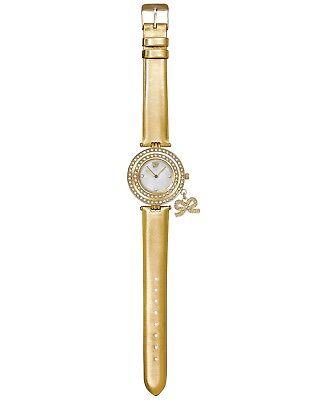 - Elizabeth Taylor White Diamonds Watch Gold Bracelet Band with Charm