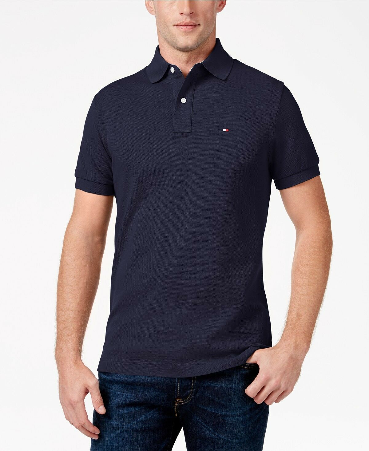 New NWT Mens Tommy Hilfiger Polo Shirt Custom Ivy Fit Small Medium Large XL
