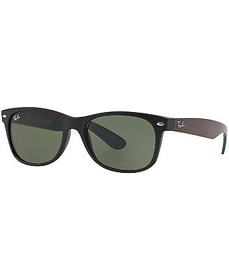 NEW Ray Ban Large Wayfarer Black Green RB2132 6182 55mm 145mm Authentic