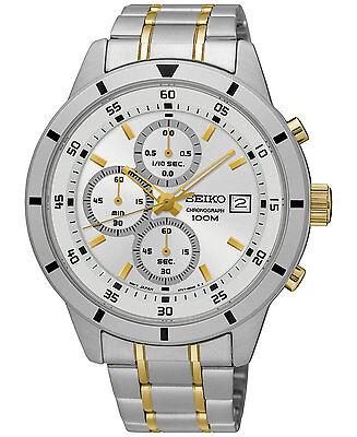 *BRAND NEW* Seiko Women's Two Tone Stainless Steel Bracelet Silver Watch SKS563