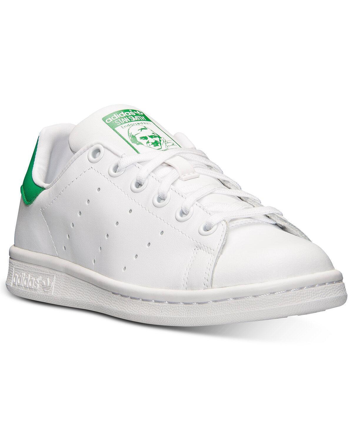 M20605 KIDS GRADE SCHOOL STAN SMITH ADIDAS WHITE/WHITE/GREEN