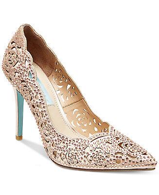 Bridal Wedding Bridesmaid Pumps Heels Shoes Blush SB-Elsa (Elsa Heels)