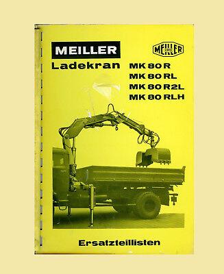 MEILER Ladekran MK 80 R  MK 80 RL  MK 80 R2L MK 80 RLH  Ersatzteilliste Original
