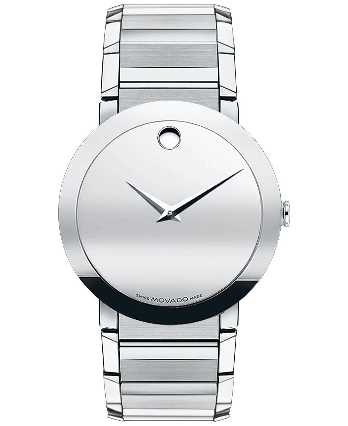Movado Swiss Sapphire Stainless Steel Wrist Watch for Men