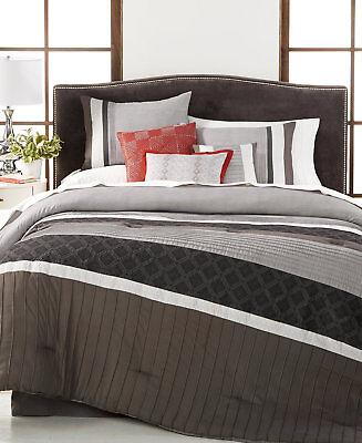 Hallmart Collectibles Meridian Reversible 7-Pc. Queen Comforter Set i1502
