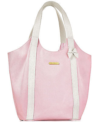 Juicy Couture Shoulder Tote (Juicy Couture Baby Pink White TOTE / TRAVEL / Shoulder Shopper)