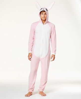 NWT CHRISTMAS STORY Pink Nightmare Men's Bunny Costume Union Suit Pajamas S M L - Pink Bunny Suit Costume