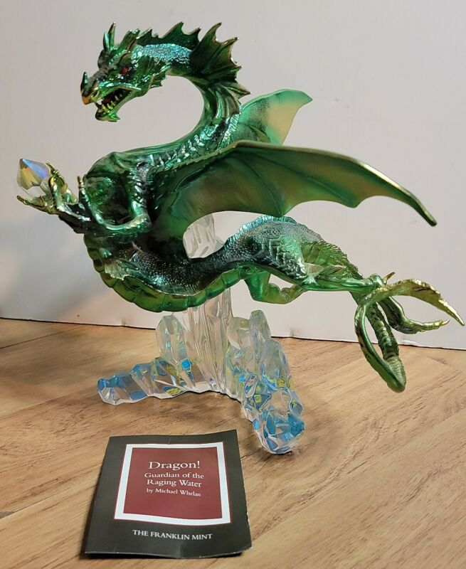 Franklin Mint Guardian of the Raging Water Dragon Sculpture by Michael Whelan