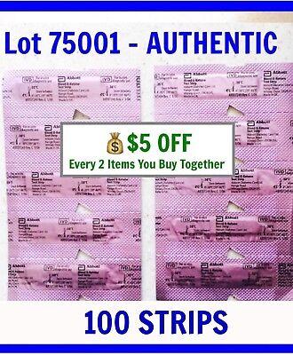 100 Abbott Blood Ketone Test Strips for PRECISION XTRA Meter 10/2019 KETO extra