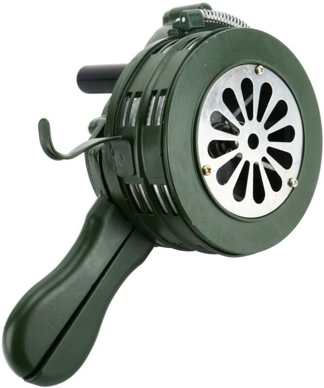 Handheld Loud Hand Crank Manual Operated Air Raid Alarm Portable Siren 110db Sec
