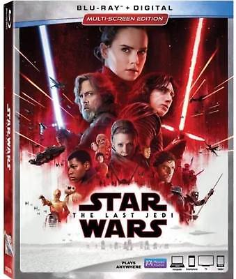 Star Wars: The Last Jedi w/Slipcover USA (Blu-ray, Digital) Multi-Screen Edition