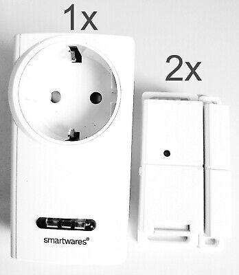 Funk Abluftsteuerung 3600W 2x Fenster-Sender Schalter für Dunstabzug Ofen Kamin