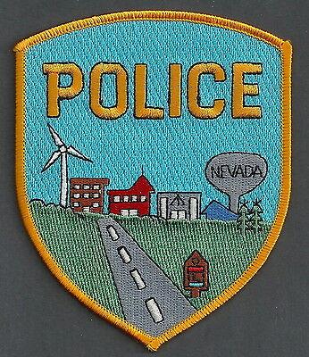 NEVADA IOWA POLICE PATCH