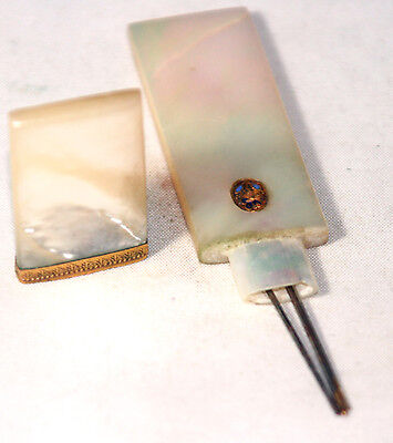 ANTIQUE~~Mother of Pearl Palaise Royale Marked Needle case~~ 19TH CENTURY FRANCE