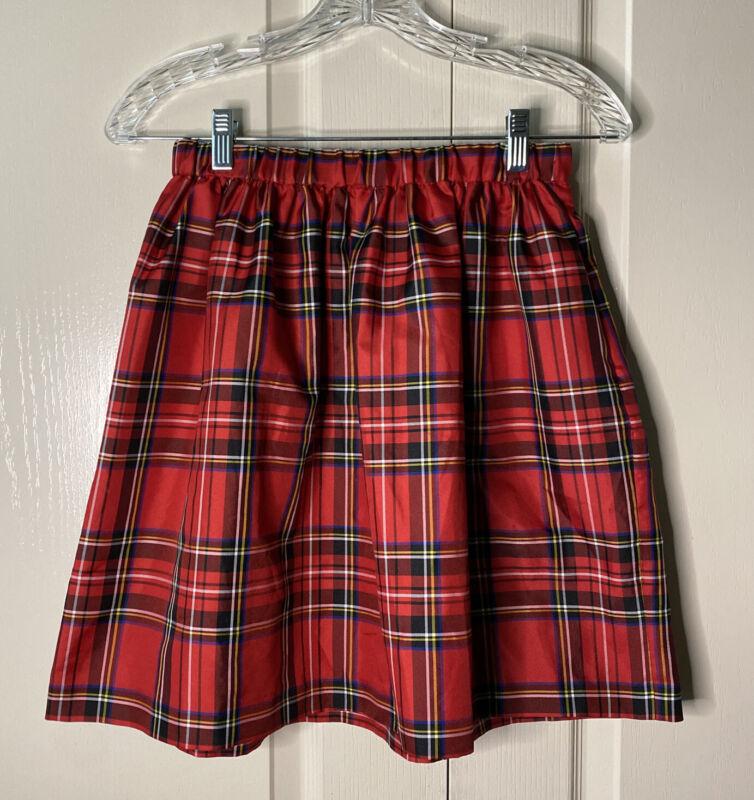 Crewcuts Plaid Holiday Skirt Sz 16