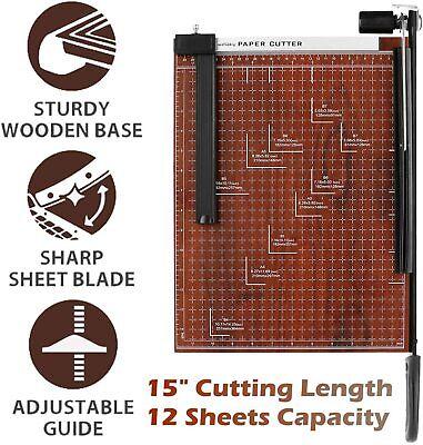 Paper Cutter Guillotine Paper Trimmer Craft Machine 15 Inch Cut Length 12 Sheet
