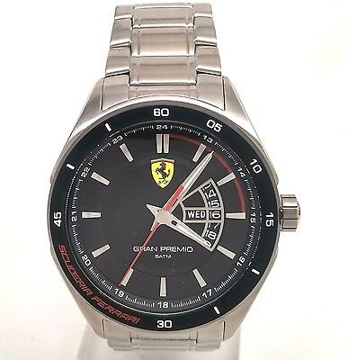 Ferrari Men's 0830189 Gran Premio Silver-Tone Stainless Steel Watch Preowned