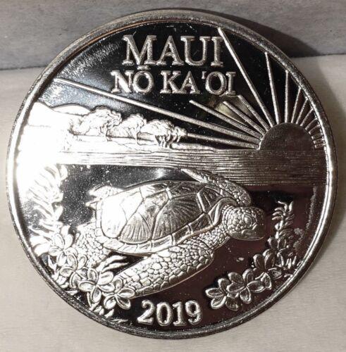 Hawaii Maui Trade Dollar 2019 Turtle Uncirculated