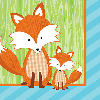 Fox Beverage Napkins Forest Fox Birthday Decorations Favor Party - Fox Party Supplies