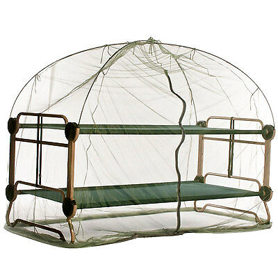Disc-O-Bed X-Large Cam-O-Bunk Benched Bunked Double Cot + Mosquito Net and