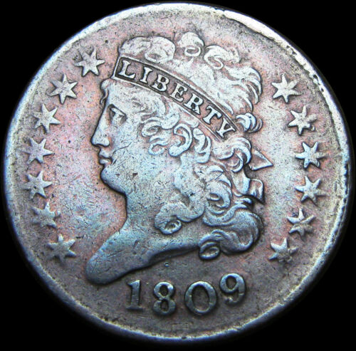 1809 Classic Head Half Cent 1/2 Penny Type US Coin  ---- NICE  ---- #B971