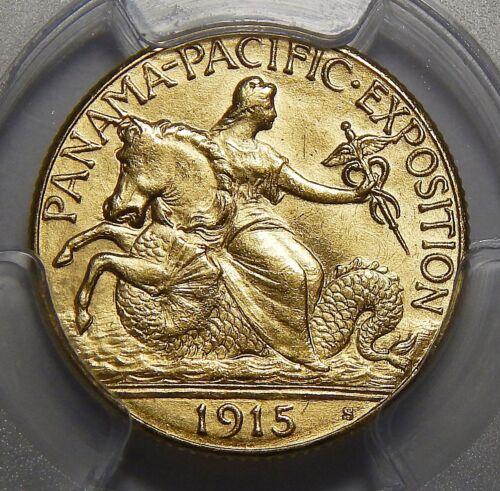 1915-S PCGS MS64 PANAMA PACIFIC $2.50 GOLD COMMEMORATIVE