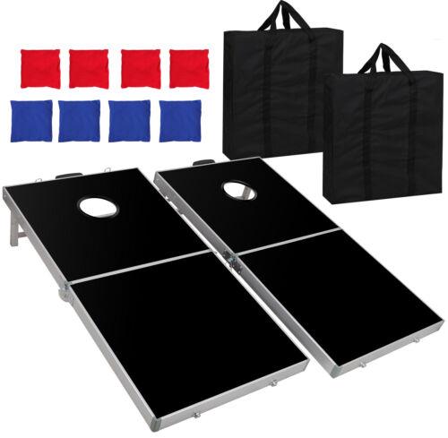 Foldable Aluminium Bean Bag Toss Cornhole Game Set Regulation Baggo 4 x 2 FT Backyard Games