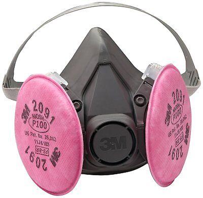 3m 07002 Half Facepiece Respirator 6291 Medium W Particulate Filters