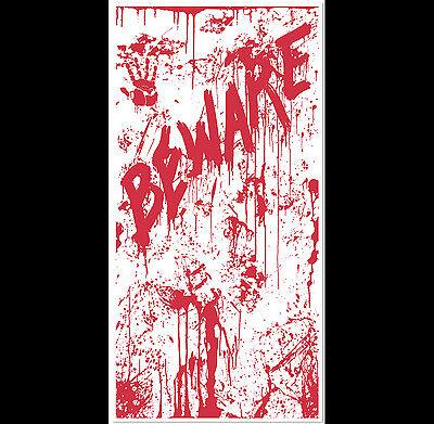 Psycho Dexter Zombie--BEWARE BLOODY DOOR COVER--Halloween Horror Prop Decoration - Dexter Halloween Decorations