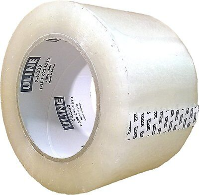Packing Tape 3 Inch X 110 Yard 2.6 Mil Crystal Clear Heavy Duty Tape By Uline
