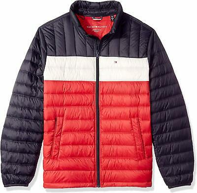 Tommy Hilfiger Men Jacket Red Size Small S Puffer Packable Colorblock $195- #445