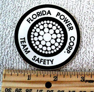 Vintage 1990's? Florida Power Decal/Sticker Progress Duke Energy TEAM SAFETY