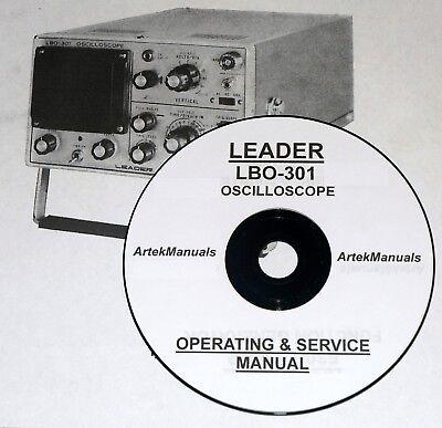 Leader Lbo-301 Oscilloscope Operating Service Manual