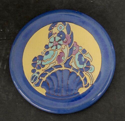 California Faience Vintage Art Tile Flower Basket
