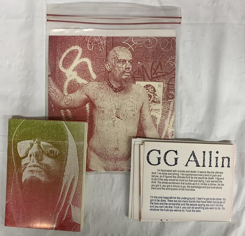 GG ALLIN OMNIPRESS ZINE - images, quotes, lyrics, 1988