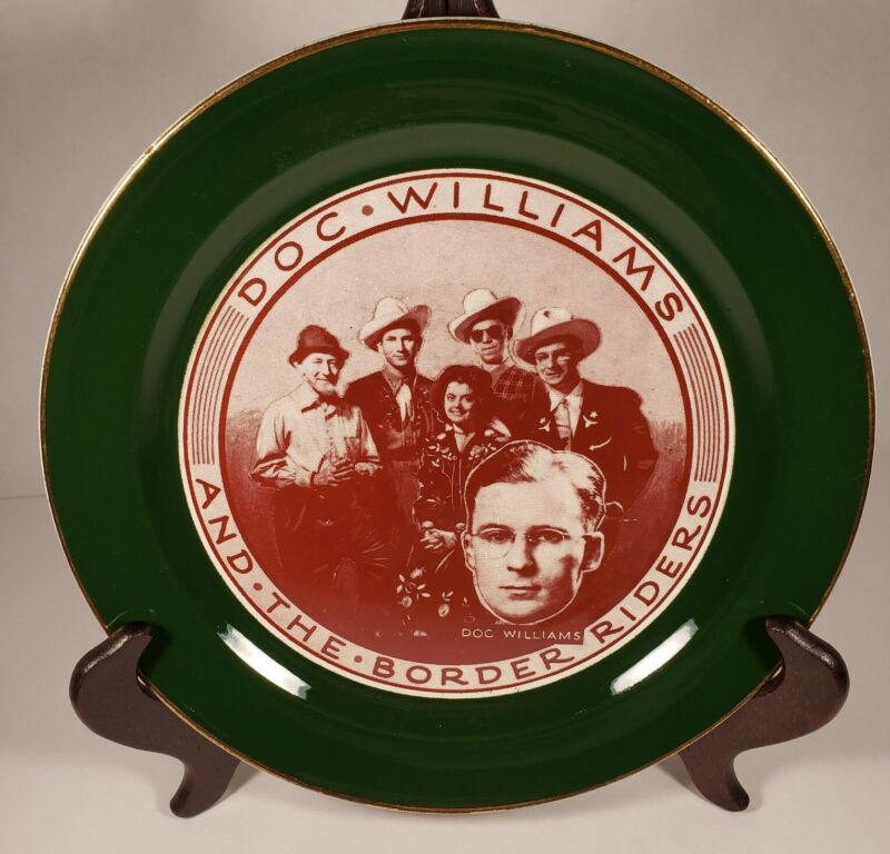 Doc Williams And The Border Riders Plate Hand Painted 22K Gold Taylor Smith USA
