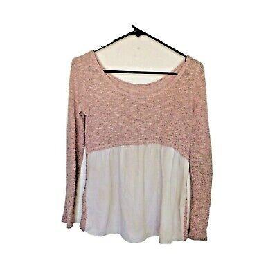 Moa Moa Girls Knit Long Sleeve Sweater Pink Size Large Flowy Dressy Kids