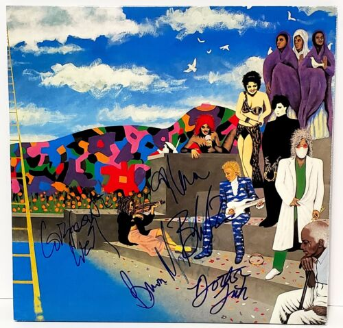 """THE REVOLUTION Signed LP VINYL """"AROUND THE WORLD IN DAY """" Prince JSA # EE09481"""
