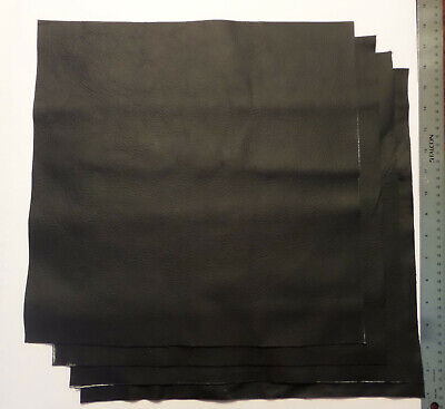 Upholstery Leather Scrap 15 x 15 inches Black 1 Piece ()