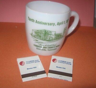 Crossville, TN., Cumberland County, TN.,CUMBERLAND COUNTY BANK 1971 COFFEE CUP