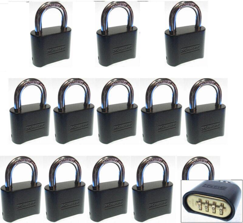 Combination Lock Set by Master 178BLK (Lot 13) Resettable Brass Insert Black